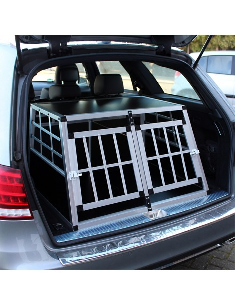 Cușcă pentru transport câini cu 2 uși  (69x89x50cm) small double door