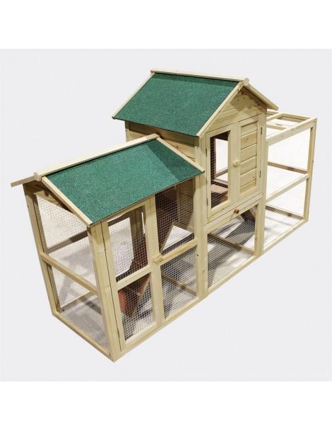 XXL Casa 2 etaje pasăre  200 x 65 x 119 cm (51380)